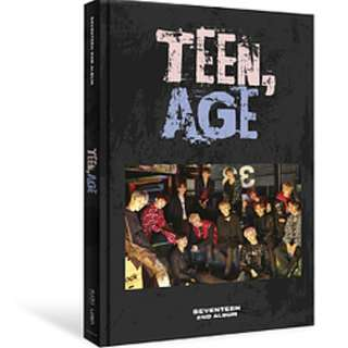 ON HAND UNSEALED Seventeen Vol. 2 Album - Teen, Age (RS Version) - CD, CD Case, Photobook, Lyrics Paper