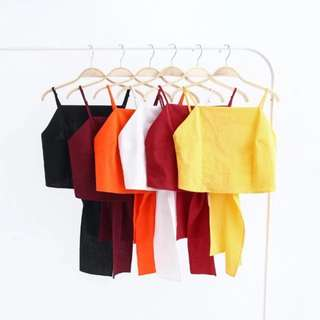 BN Knotted Crop Top (in Wine Red)