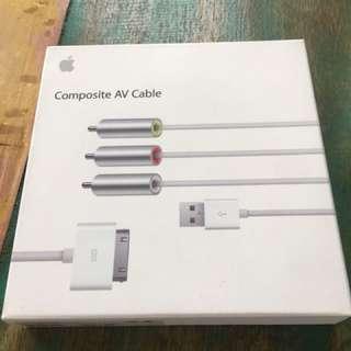 New Apple composite AV cable