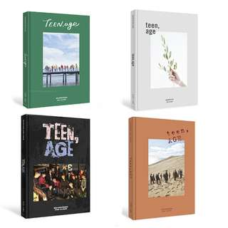 ON HAND SEALED Seventeen Vol. 2 Album - Teen, Age (White Version) w/ Group Poster (RS Version) w/ Group Poster (ORANGE Version) w/ Group Poster (GREEN Version) w/ Group Poster