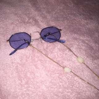 festival sunglasses with chain