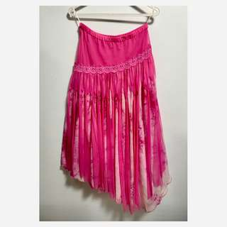 Pink frilly skirt