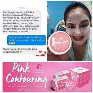 Pink Contouring Soap & Whitening/ Slimming Cream