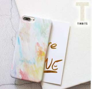 INSTOCK Rainbow Watercolour iPhone Matte Hard Case Cover