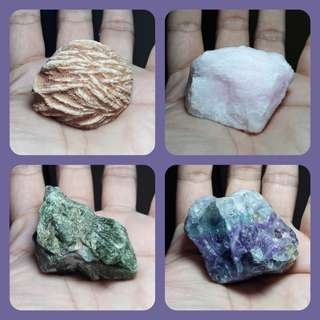 Set of 8 Raw Crystals