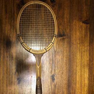 Vintage ROSSIGNOL Wooden Antique Tennis Racket Racquet