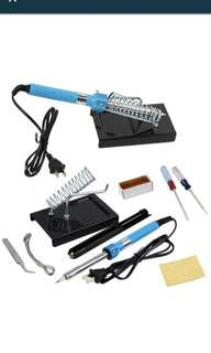 9in1 DIY Electric Soldering Iron Starter Tool Kit Set With Iron Stand Solder Desoldering Pump 60W