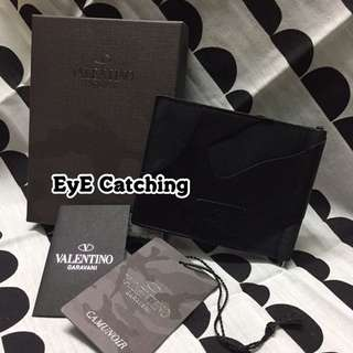 Valentino Black Money Clip Wallet