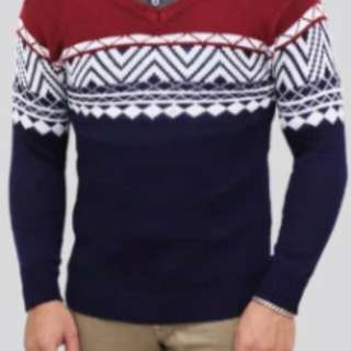 Raditcollection Sweater Rajut colombus tribal navy