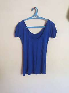 Soft body fit blue top