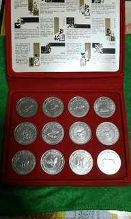 Uncirculated $10 Singapore Coins