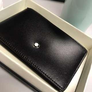 平放 Mont Blanc Wallet 真皮 銀包 men woman coins Gift 禮物 生日 情人節 valentine