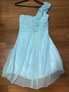 Turquoise Bustier Bridesmaid Dress