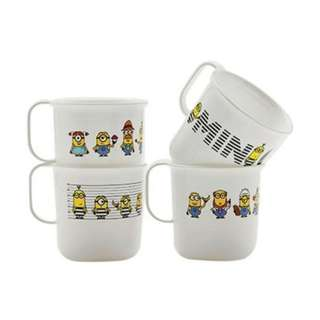 4pcs Tupperware Minion mug