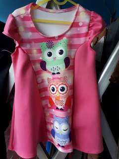 Dress pink owl