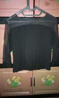 Black net Tshirt