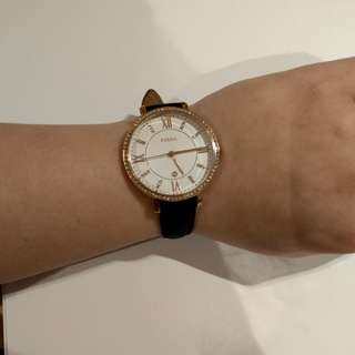 Fossil women leather watch 女裝皮帶手錶