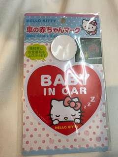 HelloKitty baby in car