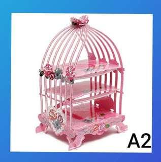 PL pink cardboard display stand