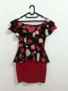 baju dres bunga2 ukuran kecil/sedang