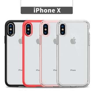 名牌Spigen 出品! iPhoneX防撞透明水晶全包保護套!