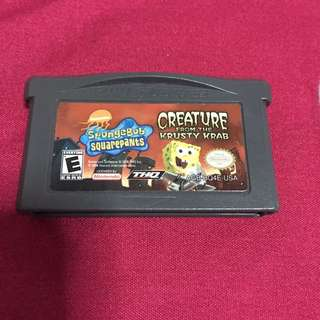 Spongebob Squarepants Gameboy Advance Cartridge