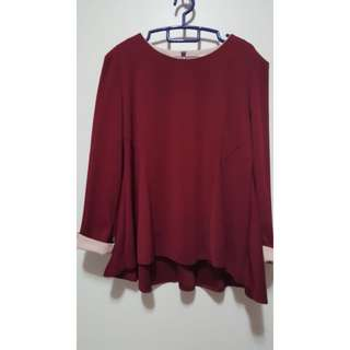 Plus Size Maroon Tops