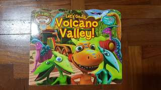 Dinosaur Train Boardbook with Fun Flaps - Let's Go to Volcano Valley!