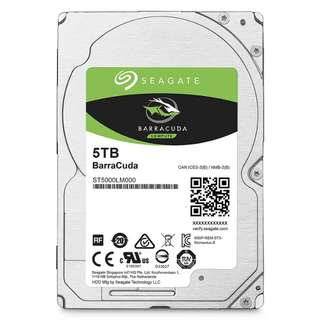 Seagate 5TB Barracuda Sata 6GB/s 128MB Cache 2.5-Inch 15mm Internal (ST5000LM000)