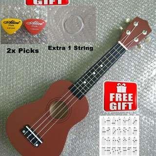 21 Inch Soprano Ukulele + FREE GIFTS