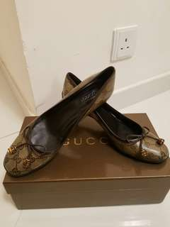 Women's Gucci Crystal Patent leather high heels