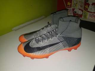 Nike Mercurial Victory VI DF TG - CR7 Grey and Orange (Soccer Shoes)