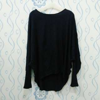 Blouse batwing navy
