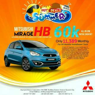 Mitsubishi Mirage Hatchback LOW DOWN Promo SURE Approval NO Minimum Requirements DIAL NOW! 09277472861 or 09206354961