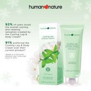 Human Nature Cooling Leg & Body Cream