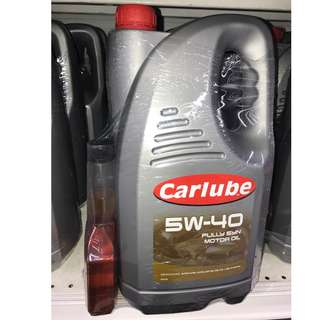 Carlube 5w40 Fully Synth Engine Oil 5L Bundle with Carlube Oil Treatment 300ml