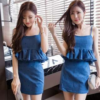 Two pcs top and skirt