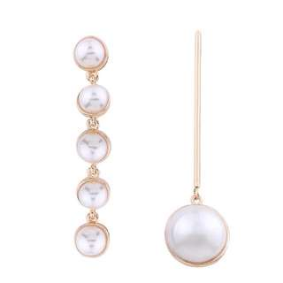 Combination pearl drop earrings