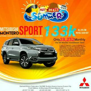 Mitsubishi Montero Sport LOW DOWN Promo SURE Approval NO Minimum Requirements DIAL NOW! 09277472861 or 09206354961
