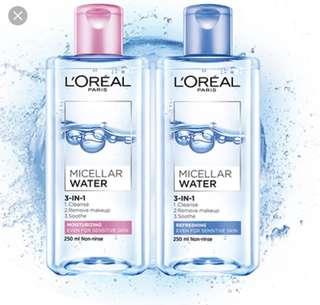L'Oréal Micellar cleansing water