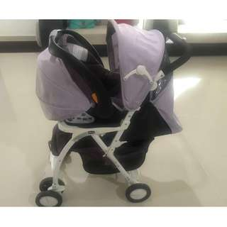 Chicco simplicity stroller with keyfit car seat