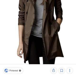 Spring/Autumn Trench coat (Brown)