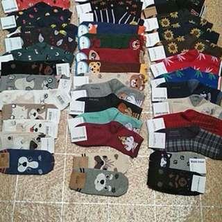 Korean Cute Socks. Highcut and Lowcut.