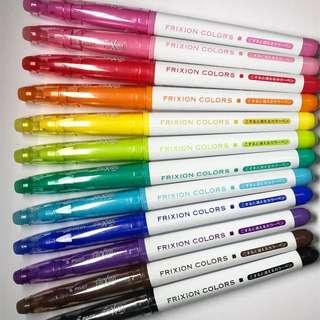 Frixion Colors 擦得甩筆 畫筆 螢光筆