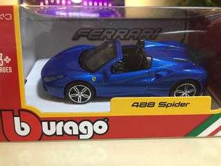 488 spider Ferrari miniature car model