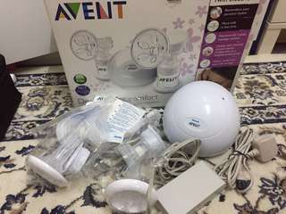 Twin electric breast pump