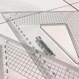 Saintograph 32cm Set Square