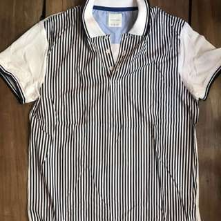 Zara Man striped polo