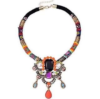 Bohemian Tribal Boho Choker Dress Necklace