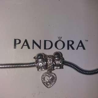 Pandora boy girl and mom pendant charm s925
